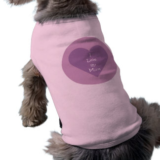 J'aime mon chandail de chien de maman manteaux pour animaux domestiques