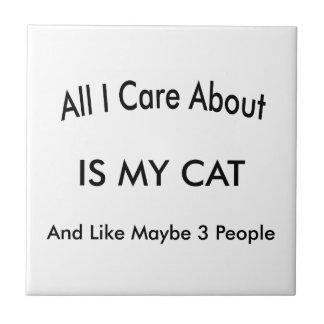 J'aime mon chat petit carreau carré