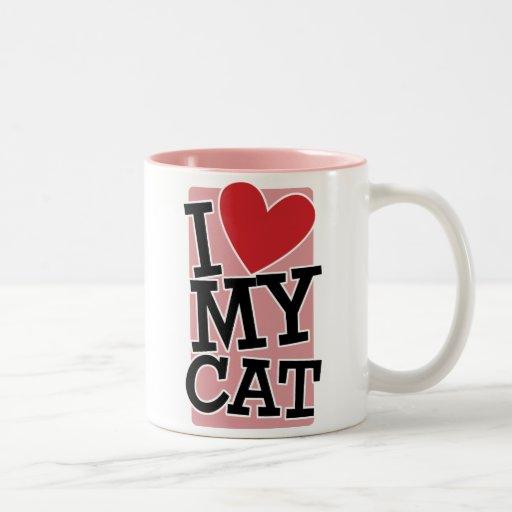 J'aime mon chat tasse à café