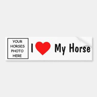 J'aime mon cheval adhésif pour voiture