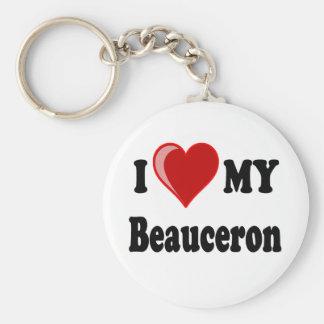 J'aime mon chien de Beauceron Porte-clés