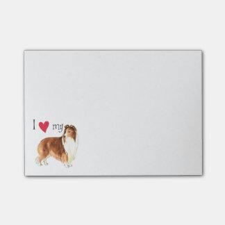 J'aime mon chien de berger de Shetland