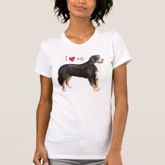 J'aime mon chien de montagne de Bernese T-shirts