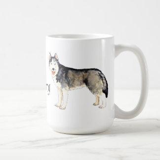 J'aime mon chien de traîneau mug