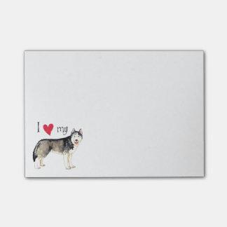 J'aime mon chien de traîneau sibérien