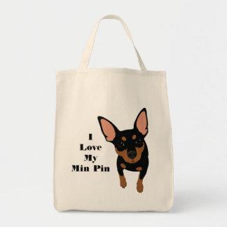 J'aime mon chien Fourre-tout (le PIN de Pin de Tote Bag