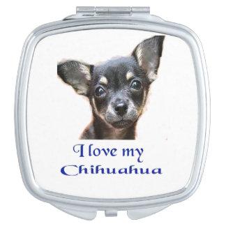 J'aime mon chiwawa miroirs de voyage