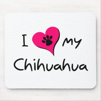 J'aime mon chiwawa tapis de souris