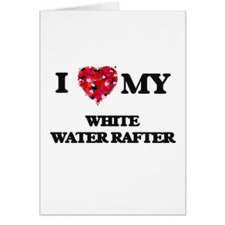 J'aime mon comble de l'eau blanche carte de vœux