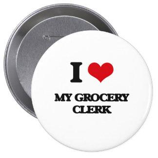 J'aime mon commis d'épicerie badge