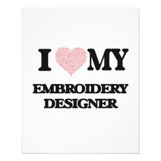 J'aime mon concepteur de broderie (coeur fait à prospectus 11,4 cm x 14,2 cm