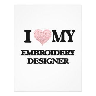 J'aime mon concepteur de broderie (coeur fait à prospectus 21,6 cm x 24,94 cm