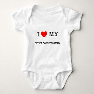 J'aime mon CONNAISSEUR de VIN T-shirts