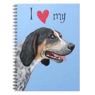 J'aime mon Coonhound de Bluetick Carnet