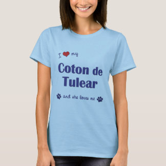 J'aime mon coton de Tulear (le chien femelle) T-shirt