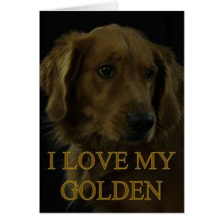 J'aime mon d'or carte de vœux