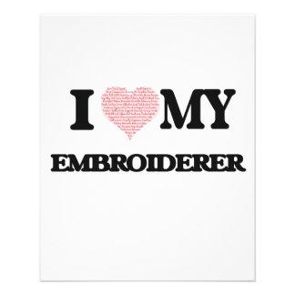 J'aime mon Embroiderer (le coeur fait à partir des Prospectus 11,4 Cm X 14,2 Cm