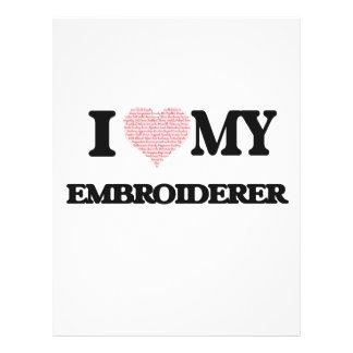 J'aime mon Embroiderer (le coeur fait à partir des Prospectus 21,6 Cm X 24,94 Cm