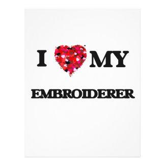 J'aime mon Embroiderer Prospectus 21,6 Cm X 24,94 Cm