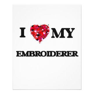 J'aime mon Embroiderer Prospectus 11,4 Cm X 14,2 Cm
