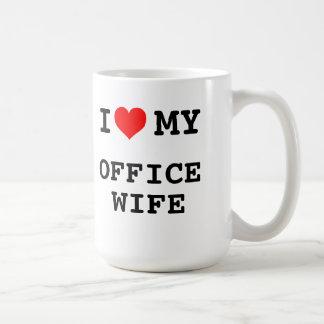 J'aime mon épouse de bureau mug