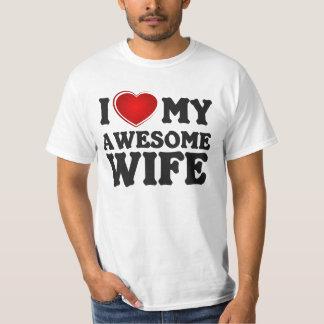 J'aime mon épouse impressionnante. T-shirt