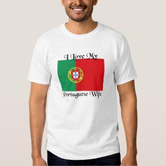 J'aime mon épouse portugaise t-shirts