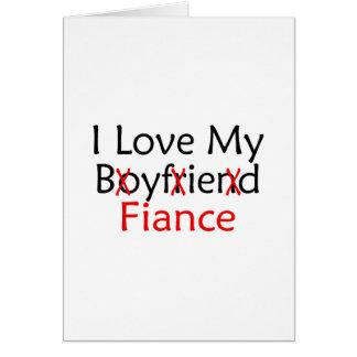 J'aime mon fiancé d'ami carte de vœux