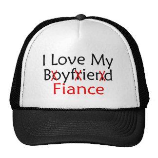 J'aime mon fiancé d'ami casquettes