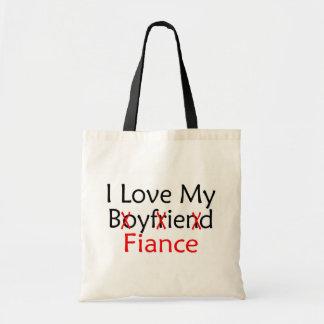 J'aime mon fiancé d'ami sac en toile budget