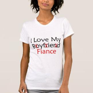 J'aime mon fiancé d'ami t-shirts