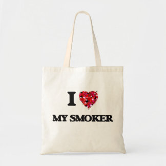 J'aime mon fumeur sac en toile