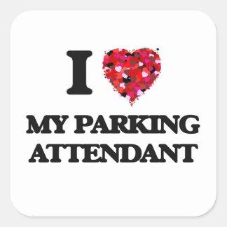 J'aime mon gardien de parking sticker carré
