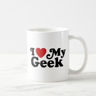 J'aime mon geek tasse à café