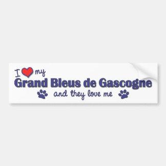 J'aime mon Grand Bleus de Gascogne (les chiens mul Autocollant De Voiture