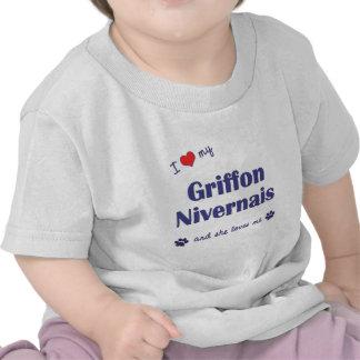 J'aime mon griffon Nivernais (le chien femelle) T-shirts