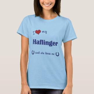 J'aime mon Haflinger (le cheval femelle) T-shirt