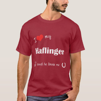 J'aime mon Haflinger (le cheval masculin) T-shirt