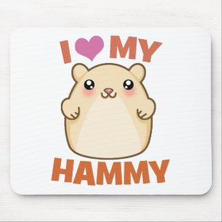 J'aime mon Hammy Tapis De Souris