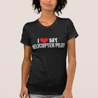 J'aime mon hélicoptère+Pilote T-shirt