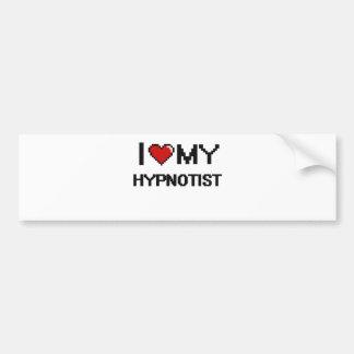 J'aime mon hypnotiseur autocollant de voiture