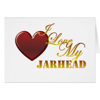 J'aime mon Jarhead 1 Carte De Vœux