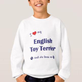 J'aime mon jouet Terrier anglais (le chien Sweatshirt
