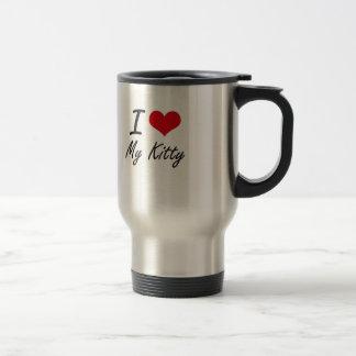 J'aime mon Kitty Mug De Voyage En Acier Inoxydable