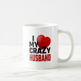 J'aime mon mari fou mug blanc