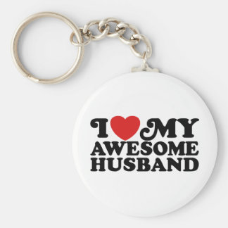 J'aime mon mari impressionnant porte-clé rond