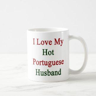 J'aime mon mari portugais chaud mug