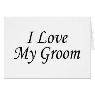 J'aime mon marié (la jeune mariée) cartes de vœux