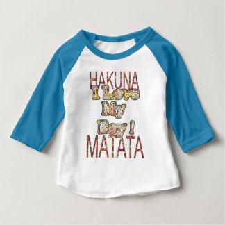 J'aime mon matata africain de Hakuna de couleurs T-shirt Pour Bébé