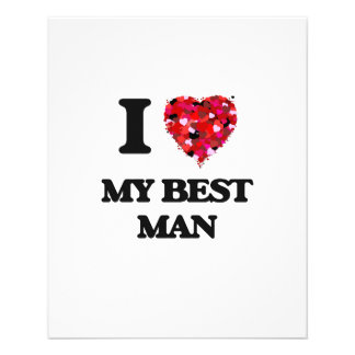 J'aime mon meilleur homme prospectus 11,4 cm x 14,2 cm